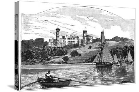 Osborne House from the Solent, East Cowes, Isle of Wight, 1900--Stretched Canvas Print