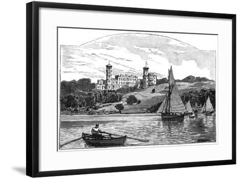 Osborne House from the Solent, East Cowes, Isle of Wight, 1900--Framed Art Print