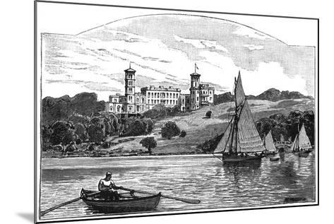 Osborne House from the Solent, East Cowes, Isle of Wight, 1900--Mounted Giclee Print