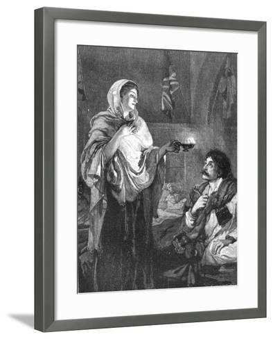 The Lady with the Lamp, C1880--Framed Art Print