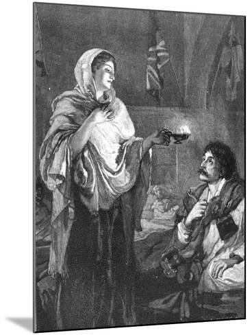 The Lady with the Lamp, C1880--Mounted Giclee Print
