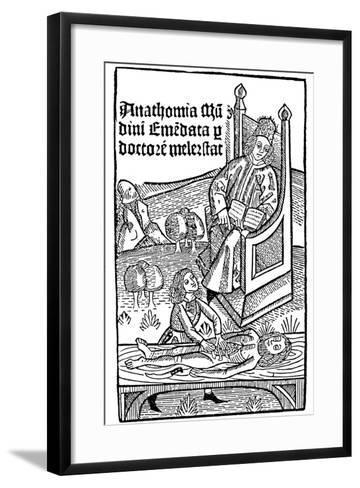 Anatomy Demonstration, 1493--Framed Art Print