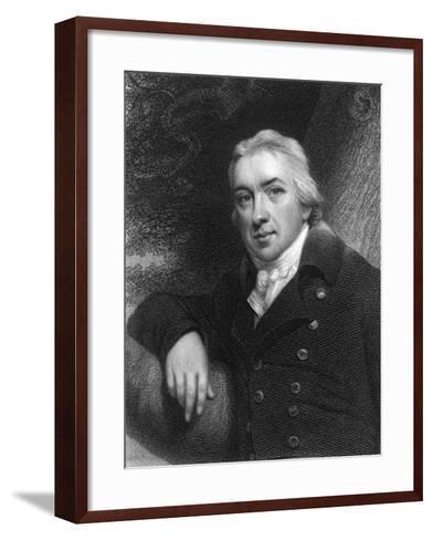 Edward Jenner, English Physician, 1837--Framed Art Print