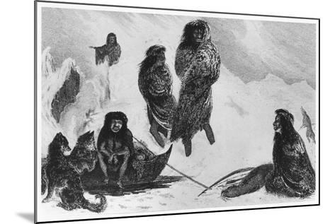 Fuegians Going to Trade with the Patagonians, 1839--Mounted Giclee Print