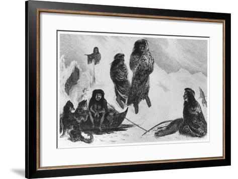 Fuegians Going to Trade with the Patagonians, 1839--Framed Art Print