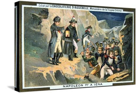 Napoleon at the Battle of Jena, 14 October 1806--Stretched Canvas Print