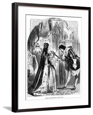 Queen Anne (1665-171) Receiving Prince Eugene (1663-173) of Austria--Framed Art Print