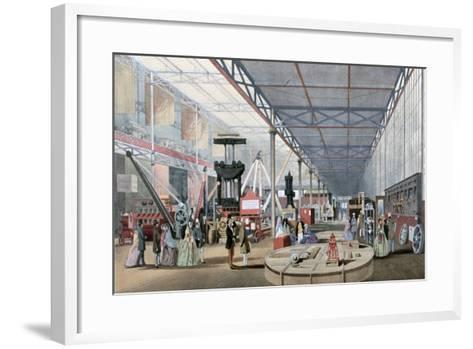 Machinery Hall, Crystal Palace Exhibition, London, 1851--Framed Art Print