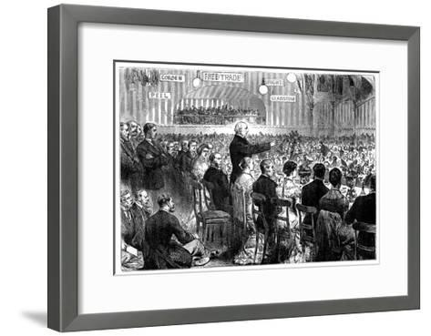 Mr Gladstone at Leeds, Late 19th Century--Framed Art Print