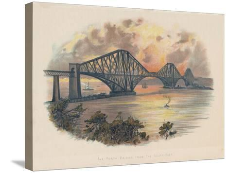 Forth Railway Bridge from the South-East, Scotland, C1895--Stretched Canvas Print