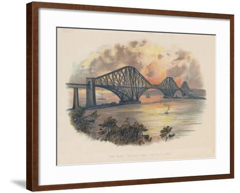Forth Railway Bridge from the South-East, Scotland, C1895--Framed Art Print
