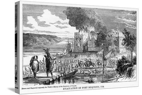Evacuation of Fort Duquesne, 1758--Stretched Canvas Print