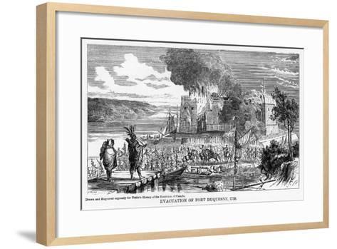 Evacuation of Fort Duquesne, 1758--Framed Art Print