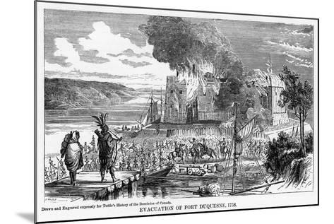 Evacuation of Fort Duquesne, 1758--Mounted Giclee Print
