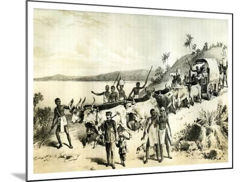 The Arrival at Lake Ngami, 1883--Mounted Giclee Print