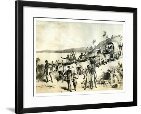 The Arrival at Lake Ngami, 1883--Framed Art Print