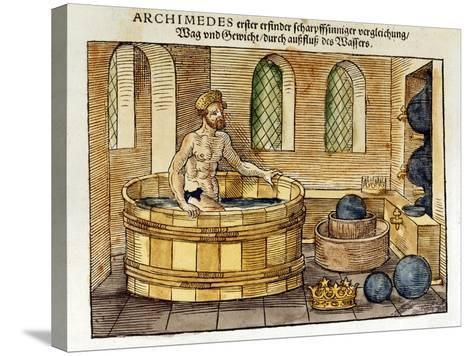 Archimedes in His Bath, 1547-Archimedes Archimedes-Stretched Canvas Print
