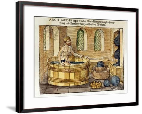 Archimedes in His Bath, 1547-Archimedes Archimedes-Framed Art Print