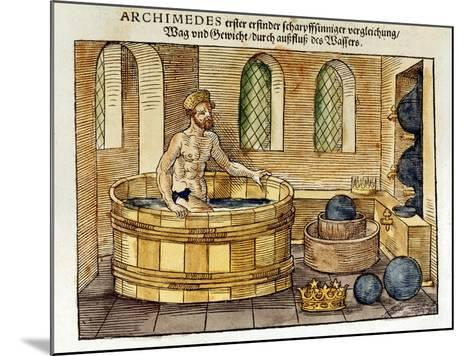 Archimedes in His Bath, 1547-Archimedes Archimedes-Mounted Giclee Print