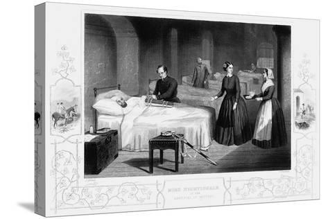 Florence Nightingale in the Hospital at Scutari, C1860--Stretched Canvas Print