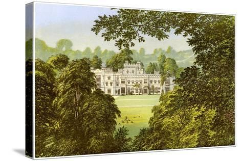 Hampton Court, Herefordshire, Home of the Arkwright Family, C1880-Benjamin Fawcett-Stretched Canvas Print