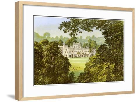Hampton Court, Herefordshire, Home of the Arkwright Family, C1880-Benjamin Fawcett-Framed Art Print