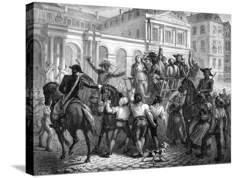 The Duke of Orleans on the Way to the Guillotine, Paris, 6th November 1793 (1882-188)-Renaud Renaud-Stretched Canvas Print