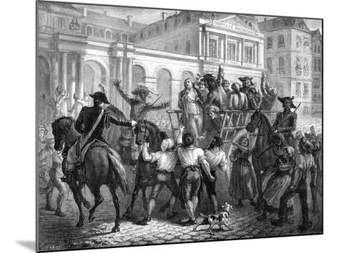 The Duke of Orleans on the Way to the Guillotine, Paris, 6th November 1793 (1882-188)-Renaud Renaud-Mounted Giclee Print