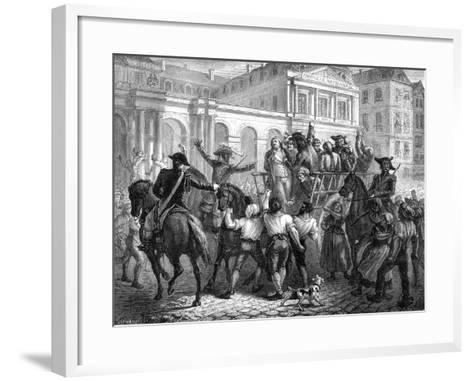 The Duke of Orleans on the Way to the Guillotine, Paris, 6th November 1793 (1882-188)-Renaud Renaud-Framed Art Print
