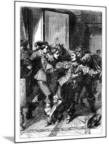 The Assassination of the Duke of Buckingham, C1902--Mounted Giclee Print