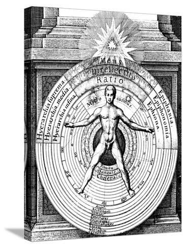 The Relation of Man, the Microcosm, with the Universe, the Macrocosm, C1617--Stretched Canvas Print