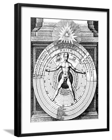 The Relation of Man, the Microcosm, with the Universe, the Macrocosm, C1617--Framed Art Print