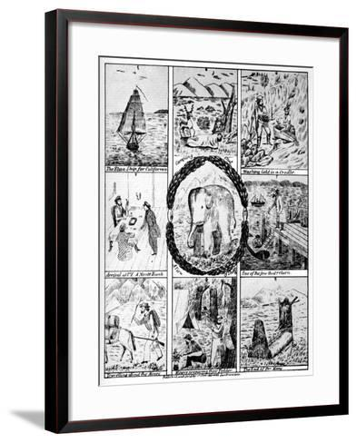 Scenes from the California Gold Rush, 1849-Cooke & Le Count-Framed Art Print