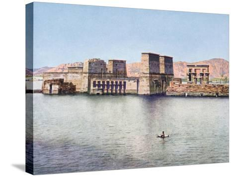The Temple of Isis at Philae, Egypt, 20th Century--Stretched Canvas Print