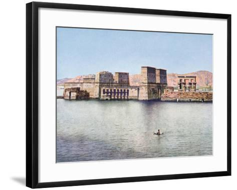 The Temple of Isis at Philae, Egypt, 20th Century--Framed Art Print