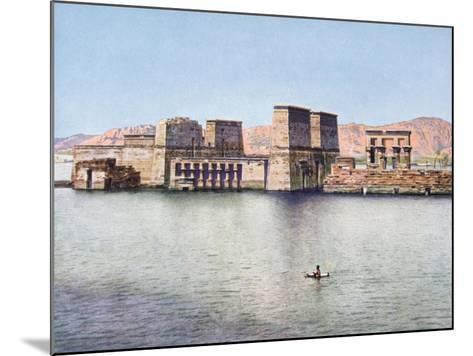 The Temple of Isis at Philae, Egypt, 20th Century--Mounted Giclee Print