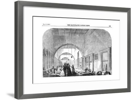 The Barrack Hospital at Scutari During the Crimean War, 1854--Framed Art Print