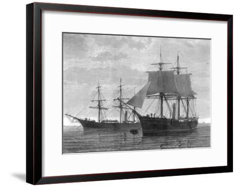 HMS Discovery and HMS Alert, British Arctic Expedition, 1875- Wells-Framed Art Print