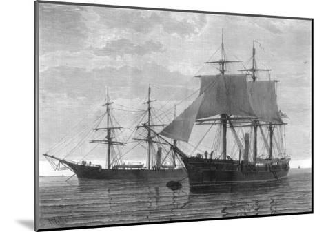 HMS Discovery and HMS Alert, British Arctic Expedition, 1875- Wells-Mounted Giclee Print