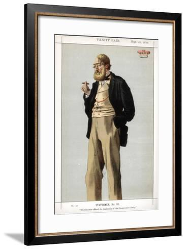 He Was Once Offered the Leadership of the Conservative Party, 1871-Coide-Framed Art Print