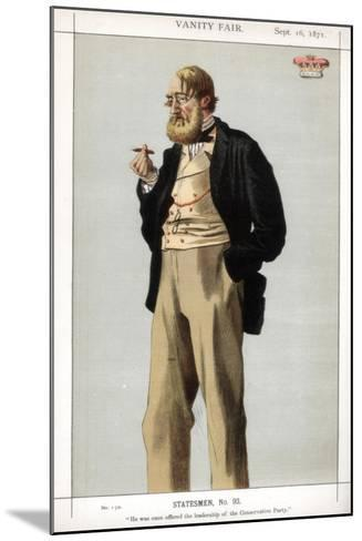 He Was Once Offered the Leadership of the Conservative Party, 1871-Coide-Mounted Giclee Print