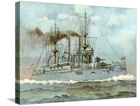 Uss 'Kearsarge, American Battleship, 1898--Stretched Canvas Print