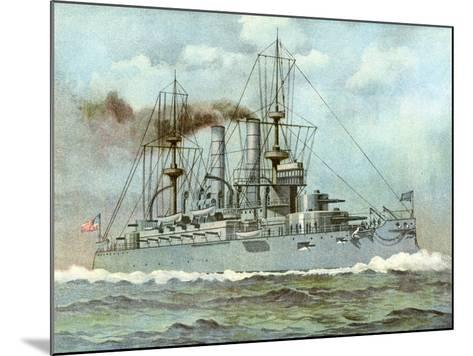 Uss 'Kearsarge, American Battleship, 1898--Mounted Giclee Print