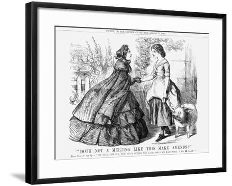 Doth Not a Meeting Like This Make Amends?, 1861--Framed Art Print