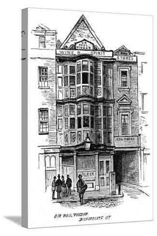 The Sir Paul Pindar Public House, Bishopsgate Street, London, 1887--Stretched Canvas Print