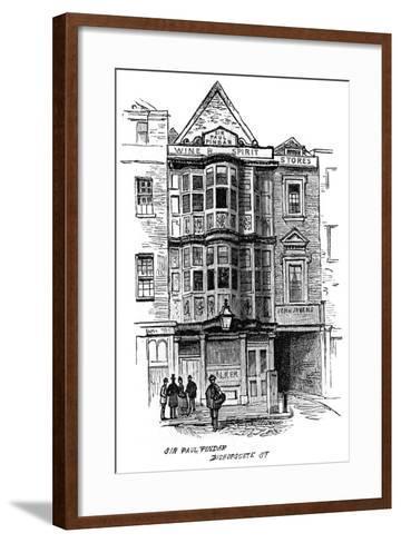 The Sir Paul Pindar Public House, Bishopsgate Street, London, 1887--Framed Art Print