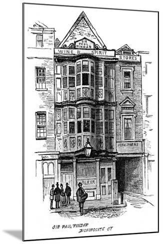 The Sir Paul Pindar Public House, Bishopsgate Street, London, 1887--Mounted Giclee Print