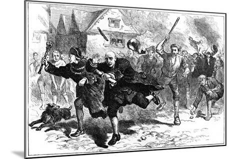 Flight of Thomas Hutchinson before the Rioters, Boston, Massachusetts, 1765--Mounted Giclee Print