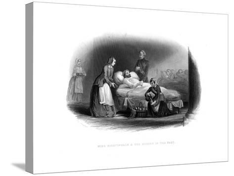 Miss Nightingale and the Military in the East, C1860--Stretched Canvas Print