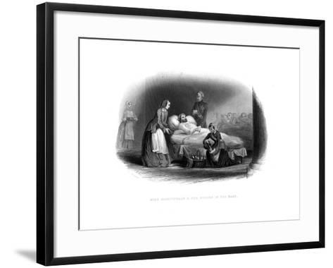 Miss Nightingale and the Military in the East, C1860--Framed Art Print